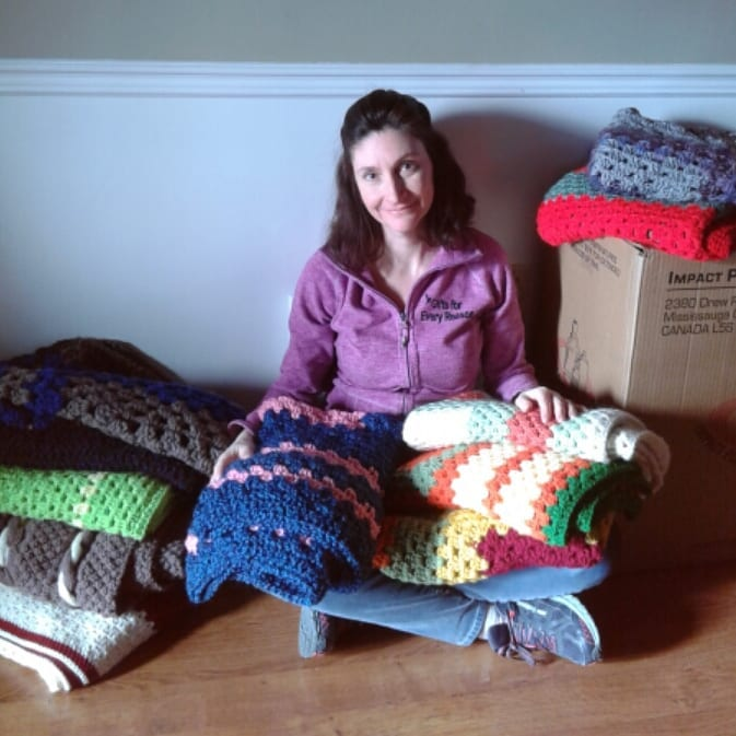 Local Resident helps Seniors one blanket at a time